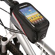 Marsupio triangolare da telaio bici -Iphone 6 Plus/6S Plus, Iphone 6/IPhone 6S, LG G3, Samsung Galaxy,Zip impermeabile Touch Screen