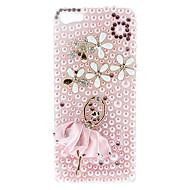 Diamond Katso Pink Dancer Pattern Hard Case Salama iPhone 5