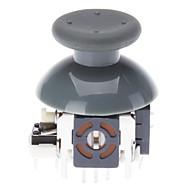 Repuesto 3D Cap joystick Rocker Shell prolifera rápidamente los casquillos para XBOX360 controlador inalámbrico (Gray)