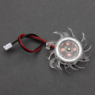 White Plastic PC Chassis Cooling Fan(4cm)  ECS002986