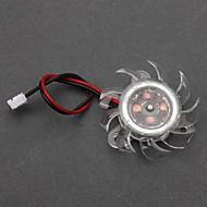 Blanc Ventilateur de refroidissement en plastique PC châssis (4cm) ECS002986