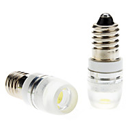 E10 1W White Light LED Bulb for Car Instrument/Side Marker/Turn Signal Lamps (DC 12V, 1-Pair)