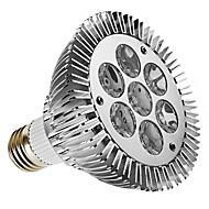 Faretti 7 LED ad alta intesità PAR E26/E27 7 W Intensità regolabile 450 LM 3000K K Bianco caldo AC 220-240 V