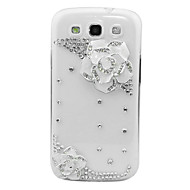 Zircon Camellia Pattern Transparent Body Case for Samsung Galaxy S3 I9300