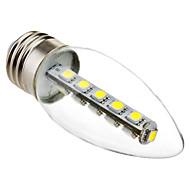 3W E26/E27 LED Candle Lights C35 16 SMD 5050 180 lm Cool White Decorative AC 220-240 V