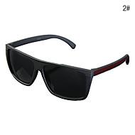 UV400 rectángulo de plástico llena las gafas de sol de los hombres