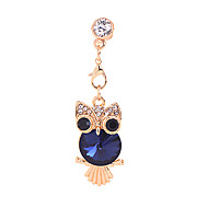 Crystal Owl Alloy Chain Zircon Anti-dust Plug(Assorted Colors)