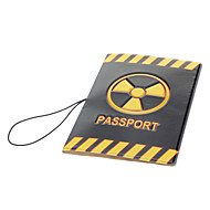 Housse de protection Passport Holder PVC - Noir + Jaune