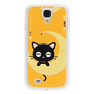삼성 갤럭시 S4 I9500를위한 모조 다이아몬드 미소 작은 새끼 고양이 패턴 하드 케이스
