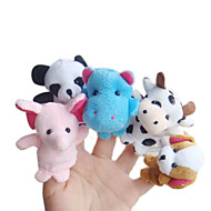 5pcs forêt marionnettes en peluche animal doigt enfants parlent prop