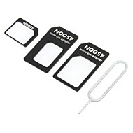 Card Nano SIM la Micro / Standard SIM Adaptor Card Set pentru iPhone 5 și alții
