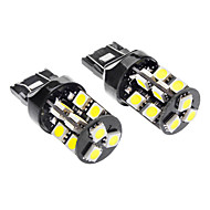 7443/7440/T20 3.5W 19x5050SMD 6000-6500K 240-260LM LED White Light Car Lampen (DC 12V, 1-Pair)