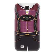 Matte Style Suspender Pant Mönster robust väska för Samsung Galaxy S4 I9500