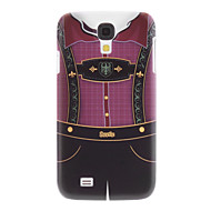 Matte stil Suspender Pant mønster Slitesterk vanskelig sak for Samsung Galaxy S4 I9500