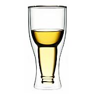 Upside Down ølflaske Style dobbeltvægget glas