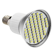 E14 4W 60x3528SMD 200-240LM 6000-6500K bianco naturale LED Light Bulb Spot (85-265V)
