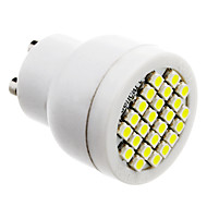 GU10 2W 24x3528SMD 70-100lm 6000-6500K Naturlig White Light LED Spot pære (85-265V)