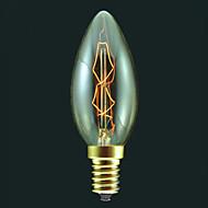 暖かい白E14 40ワットの白熱電球キャンドルバルブ