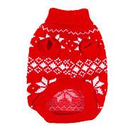 犬用品 - 冬 - クリスマス / 新年 用- ウール - セーター - レッド - XS / M / XL / S / L