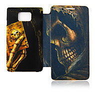 Skull Poker Leather Case for Samsung Galaxy S2 I9100