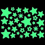 huismuur glow in the dark ster stickers set
