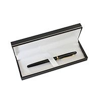 Personalized Father's Day Gift Black Business Metal Black Ink Gel Pen
