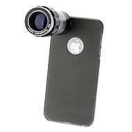 9X Telephoto Lens with Ultraslim Matte PC Hard Case for iPhone 5