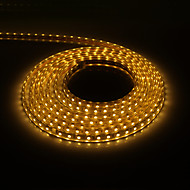 5M 300x5050SMD 3000K varmvitt ljus PCB Vattentät LED Strip Light med Plug (220V)
