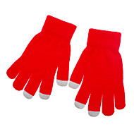 Solid Color Red Screen Touching Gloves for iPhone, iPad and All Touch Screen Devices