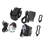 3-Mode 1xCree XM-L T6 LED Bicycle Front Light/Headlamp(1000LM, 4x18650, Dark Grey)