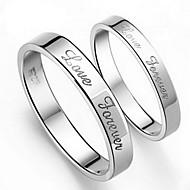 指輪 日常 ジュエリー 合金 女性 男性 夫婦 カップルリング 1個 2 個,5 6 7 8 9 10 8½ 9½ 10½ シルバー