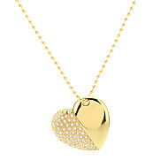 Heart Shape Gold med kedja Flash Drive 8G