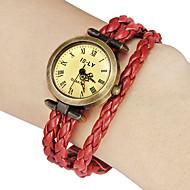 Women's Vintage Round Dial Pu Band Quartz Analog Bracelet Watch (Assorted Colors) Cool Watches Unique Watches