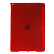 Solid Color Three Folds PU Full Body Case with Stand for iPad Air (Assorted Colors)