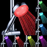 Vann Flow Power Generation fargeendringen LED ABS hånddusj