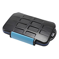 JJC MC-2 Anti-chok Vandtæt Memory Card Case Hard Opbevaring 4 CF 8 SD