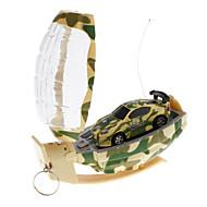 Mini Car Racing RC con controller a forma di granata (colore casuale)