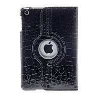 360 Degree Rotating Leopard Pattern Black Case for iPad mini 3, iPad mini 2, iPad mini