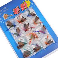 12 pcs Moscas / Paquete de cebos / Cebos Moscas / Paquete de cebos Colores Surtidos g/<1/18 Onza mm pulgada,Metal Pesca de Cebo