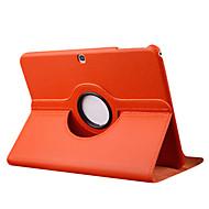 Pour Samsung Galaxy Coque Avec Support Clapet Rotation 360° Coque Coque Intégrale Coque Couleur Pleine Cuir PU pour Samsung Tab 3 10.1