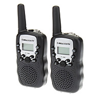 T388 2pcs/pair contenente due walkie talkie nero