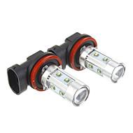 H11 50W refrescan la lámpara LED de luz blanca para el coche (12-30V, 2 pcs)