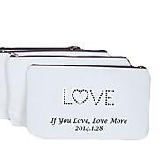 Personalizado Padrão Presente do amor Creamy Canvas Porta-moeda