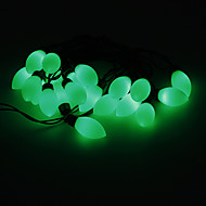 5M 15W 20-LED Green Light Cherry Tomato Shaped LED Strip Light (220V)
