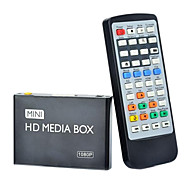 08H 1080P Multi-Media Player w / HDMI / USB / AV - Musta