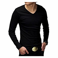 Men's Casual Korean Cotton Long Sleeve T-Shirts