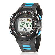 Herren Sportuhr digital LCD / Kalender / Chronograph / Alarm Caucho Band Blau / Rot / Gelb Marke-