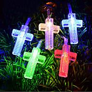 5M 3W 50-LED Cross Shaped LED Colorful Strip Light (220V)