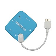 Micro USB 3.0 OTG-kaartlezer en 3 USB poorten voor Samsung Note 3 Charging Data Transfer
