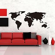 adesivi mappa parete grandi globale mappa del mondo atlante vinile stickers murali lavabili